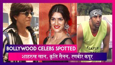 Shah Rukh Khan मुंबई एयरपोर्ट पर आए नज़र, Ranbir Kapoor ने खेला फुटबॉल | Celebs Spotted