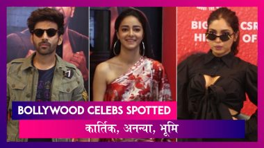 Kartik, Bhumi, Ananya ने किया Pati Patni Aur Woh को प्रमोट,Varun-Kiara भी हुए स्पॉट | Celebs Spotted