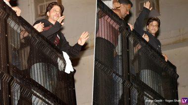 Photos: शाहरुख खान के 54वें जन्मदिन पर 'मन्नत' के बाहर उमड़ी फैंस की भीड़, एक्टर ने ऐसे मनाया बर्थडे