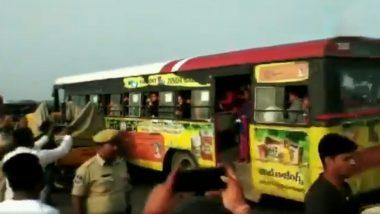हैदराबाद गैंगरेप आरोपियों के एनकाउंटर के बाद स्कूल छात्राओं ने मनाई खुशी, लोगों ने पुलिस पर बरसाए फूल, देखें वीडियो