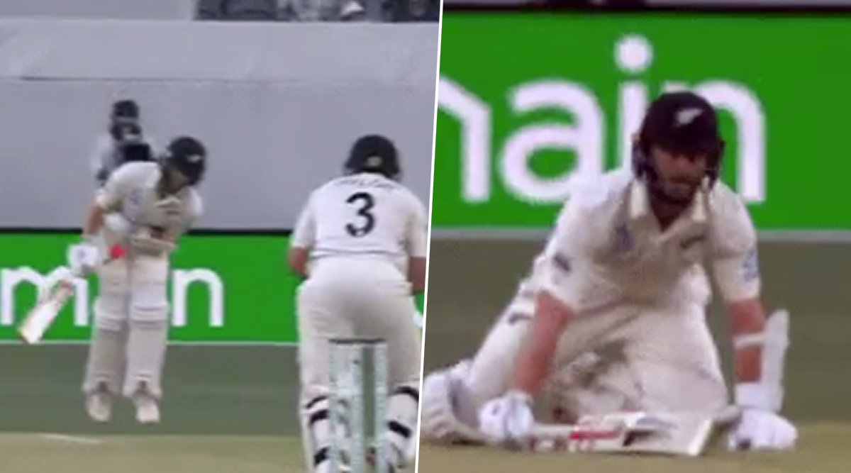 AUS vs NZ 1st Test Match 2019: रॉस टेलर की जोरदार शॉट केन विलियमसन के प्राइवेट पार्ट पर लगी, देखें वीडियो
