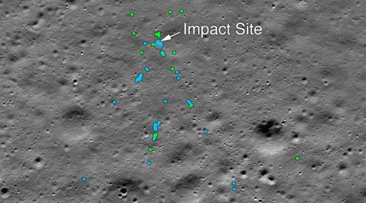 Chandrayaan 2 के विक्रम लैंडर का मलबा चांद की सतह पर मिला, NASA ने जारी की तस्वीर