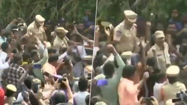 हैदराबाद रेपकांड: चारों आरोपी एनकाउंटर में ढेर, कहीं भीड़ ने बरसाए फूल तो कहीं कंधो पर लोग पुलिस वालों को लेकर नाचे