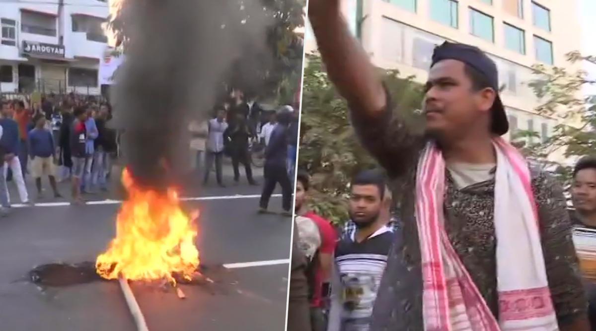 नागरिकता संशोधन बिल 2019: असम के गुवाहाटी में छात्रों का प्रदर्शन हिंसक, डिब्रुगढ़ में की आगजनी
