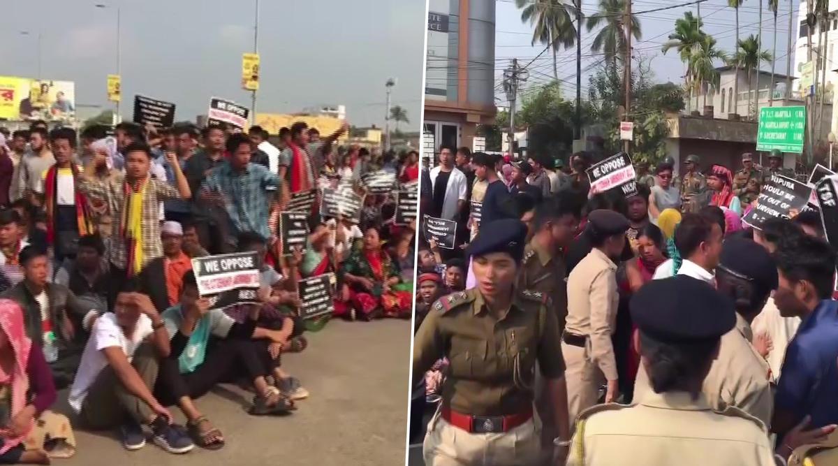 नागरिकता संशोधन बिल: असम और त्रिपुरा में हंगामा जारी, सरकार के खिलाफ सड़कों पर उतरे लोग
