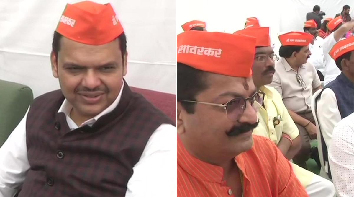 महाराष्ट्र: राहुल गांधी के वीर सावरकर वाले बयान पर बीजेपी आक्रामक, 'मैं भी सावरकर' की टोपी पहन कर विधानसभा पहुंचे विधायक