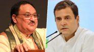 राहुल गांधी को संशोधित नागरिकता कानून के बारे में कोई ज्ञान नहीं:  जेपी नड्डा