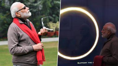 Solar Eclipse 2019: प्रधानमंत्री नरेंद्र मोदी ने देखा सूर्य ग्रहण का पूरा नजारा, शेयर की तस्वीरें