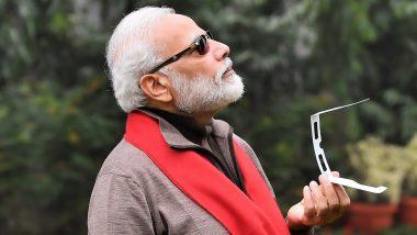 सूर्य ग्रहण देखने पर  PM मोदी को ट्विटर यूजर ने लिखा- आपकी फोटो पर मीम बनेगा, उन्होंने कहा- मजे करो