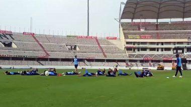 IND vs WI 1st T20I 2019: वेस्टइंडीज को मात देनें के लिए टीम इंडिया ने हैदराबाद में अनोखे तरीके से की प्रैक्टिस, देखें वीडियो