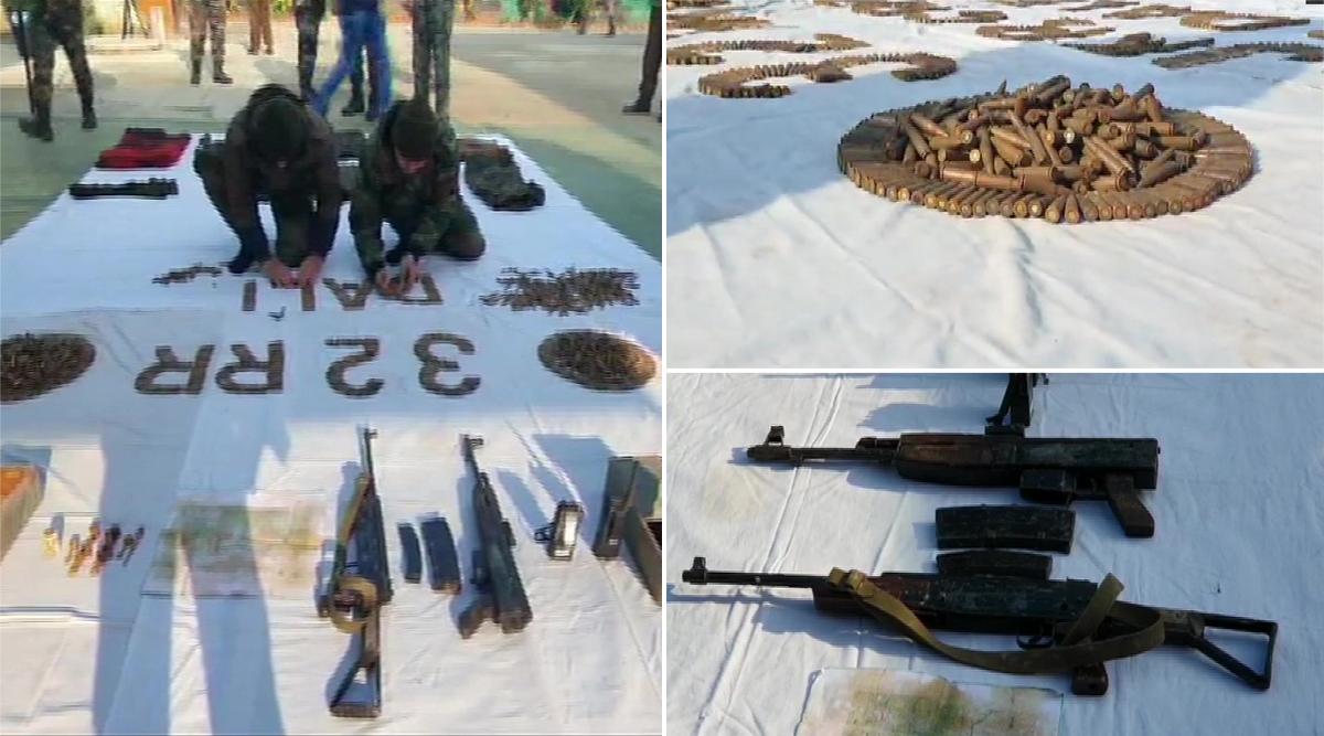 जम्मू-कश्मीर: सोपोर में सुरक्षाबलों को बड़ी कामयाबी, सेना ने बरामद किया हथियारों का जखीरा