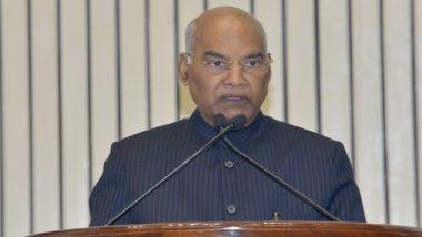 राष्ट्रपति रामनाथ कोविंद 20 से 28 दिसंबर तक दक्षिण भारत प्रवास पर, सिकंदराबाद और तेलंगाना का करेंगे दौरा
