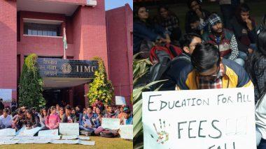 JNU की आंच IIMC तक पहुंची, स्टूडेंट्स ने फीस बढ़ोतरी का विरोध किया
