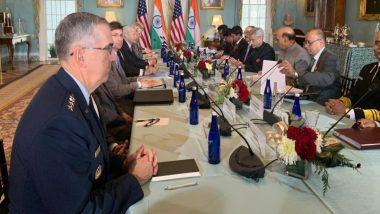 अमेरिकी राष्ट्रपति डोनाल्ड ट्रंप ने रक्षा मंत्री राजनाथ सिंह और विदेश मंत्री एस जयशंकर से की मुलाकात, भारत-अमेरिका के संबंधों पर की द्विपक्षीय वार्ता