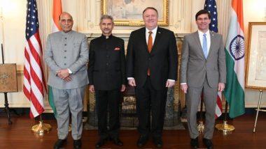 भारत और अमेरिका के बीच हुई 'टू प्लस टू' वार्ता के बाद जारी संयुक्त बयान जारी, कहा- द्विपक्षीय रणनीतिक साझेदारी पर साथ मिलकर करेंगे काम