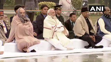 गृह मंत्री अमित शाह और रक्षा मंत्री राजनाथ सिंह ने पूर्व प्रधनमंत्री अटल बिहारी वाजपेयी को दी श्रद्धांजलि, पंडित मदन मोहन मालवीय को भी किया नमन