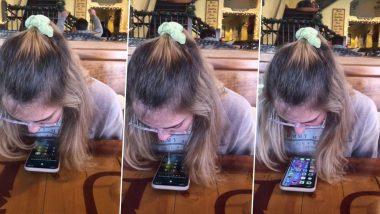 लड़की ने अपनी लार से किया फोन अनलॉक, बॉयफ्रेंड ने टिक टॉक पर दिखाया गर्लफ्रेंड का टैलेंट, देखें वीडियो