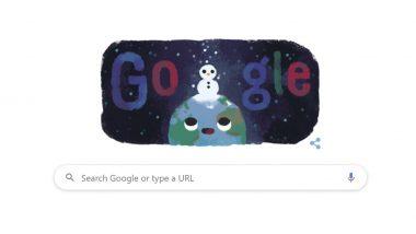 सर्दी का मौसम 2019: ठंड की शुरुआत पर गूगल ने बनाया धरती पर आईस मैन वाला बेहद खास डूडल