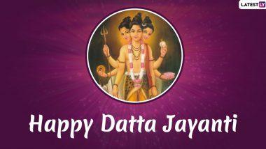 दत्त जयंती 2019: जानें कैसे ब्रह्मा, विष्णु और शिव जी के संयोग से जन्में भगवान दत्तात्रेय