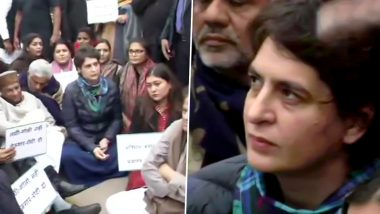 जामिया छात्रों के समर्थन में उतरीं प्रियंका गांधी का इंडिया गेट पर धरना, कहा- हम संविधान के लिए सरकार से लड़ेंगे