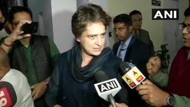 बीजेपी नेता कपिल मिश्रा के खिलाफ कोई कार्रवाई न होना शर्मनाक: प्रियंका गांधी