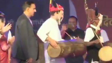 छत्तीसगढ़ के राष्ट्रीय आदिवासी नृत्य महोत्सव में जमकर थिरके राहुल गांधी, देखें वीडियो