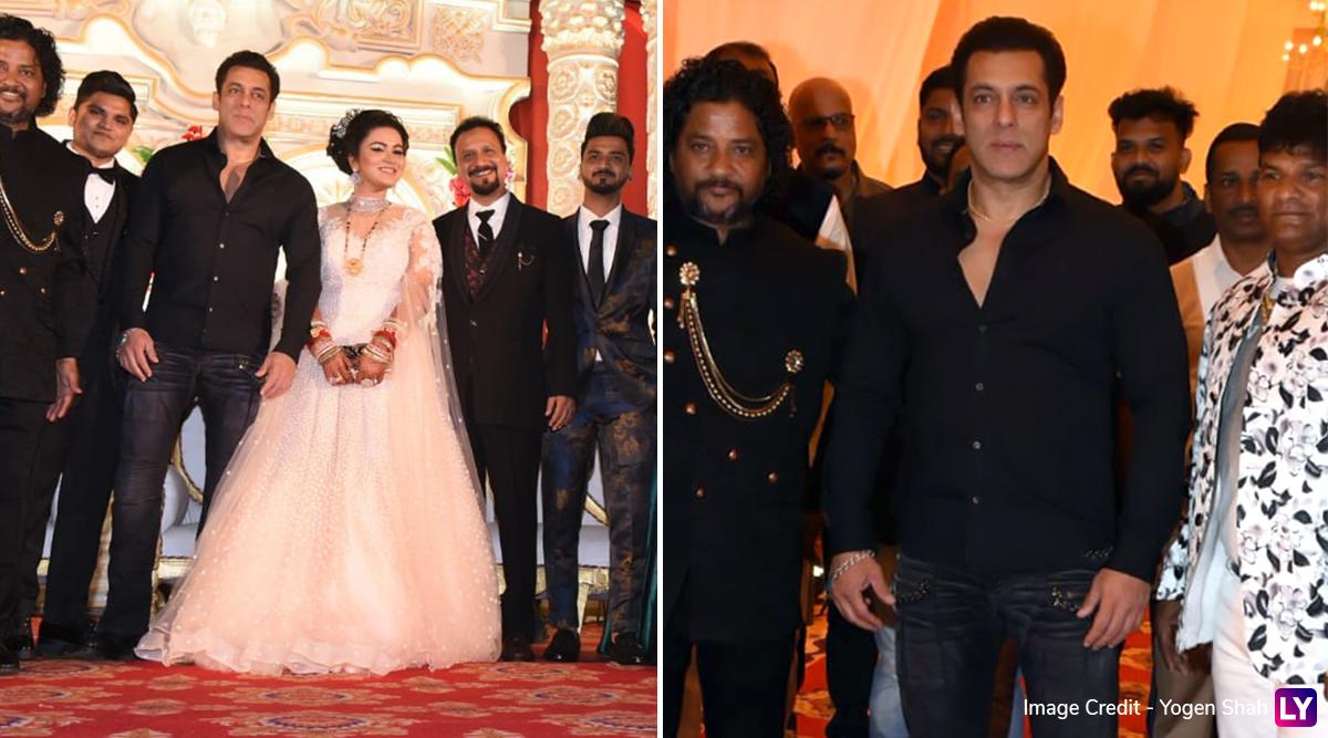 मेकअप आर्टिस्ट के बेटे की शादी में पहुंचे सलमान खान, देखकर लोग भी हुए हैरान, देखें Photos