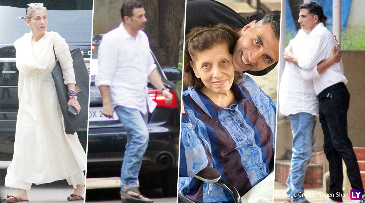 डिंपल कपाड़िया की मां Betty Kapadia के अंतिम संस्कार में पहुंचे सनी देओल-अक्षय कुमार, देखें Photos