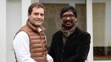 झारखंड: आज हेमंत सोरेन लेंगे मुख्यमंत्री पद की शपथ, कांग्रेस नेता राहुल गांधी भी समारोह में हुए शामिल