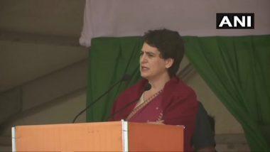 प्रियंका गांधी बोलीं- बीजेपी हार्दिक पटेल को लगातार कर रही है परेशान