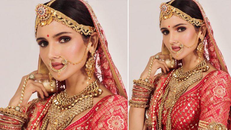 मिस इंडिया यूनिवर्स 2019 का खिताब जीतने वाली वर्तिका सिंह दुल्हन के लिबास में लग रही हैं बला की खूबसूरत, देखें तस्वीरें