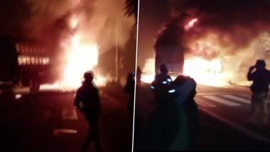 उत्तर प्रदेश: कन्नौज में बस और ट्रक में भिड़ंत से लगी आग, 20 से ज्यादा यात्री जिंदा जले