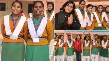 दिल्ली: गवर्मेंट स्कूल की छात्राओं ने 18 भारतीय भाषाओं में नए साल की दी शुभकामनाएं, देखें वीडियो