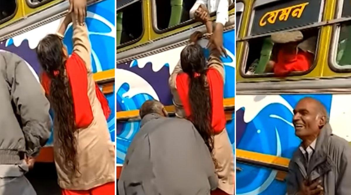 शख्स ने भीड़ भाड़ वाली बस में पत्नी को चढ़ाने के लिए किया जबरदस्त जुगाड़, वीडियो देख नहीं रोक पाएंगे हंसी