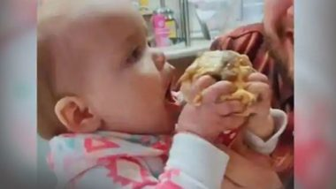 इस बच्ची ने पहली बार आइसक्रीम खाने के बाद दिया जबरदस्त रिएक्शन, वायरल हुआ वीडियो