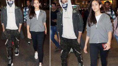 चेहरा छिपाकर शाहिद कपूर पत्नी मीरा राजपूत संग लौटे मुंबई, फिल्म जर्सी के सेट पर हुए थे घायल