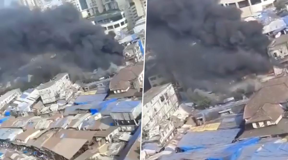 दक्षिण मुंबई के फारस रोड पर लगी भीषण आग, 5 लोग घायल