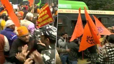 पाकिस्तान में ननकाना साहिब गुरूद्वारे पर हुए हमले को लेकर आक्रामक हुआ बजरंग दल, दिल्ली में किया विरोध प्रदर्शन, पुलिस ने हिरासत में लिया