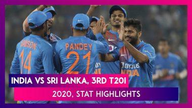 IND vs SL Stat Highlights, 3rd T20I 2020 India ने  Sri Lanka को 2-0 से हराकर जीती सीरीज