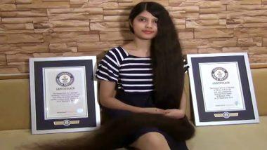 गुजरात: नीलांशी पटेल ने तोड़ा अपना ही वर्ल्ड रिकॉर्ड, 190 सेंटीमीटर लंबे बाल बढ़ाकर रच दिया इतिहास