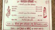उत्तर प्रदेश में शादी के कार्ड पर सीएए और एनआरसी का समर्थन
