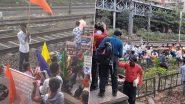 CAA, NRC और EVM के विरोध में आज भारत बंद, मुंबई के कांजुरमार्ग स्टेशन पर प्रदर्शकारियों ने कुछ देर लिए रोकी ट्रेन
