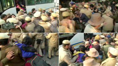 VIDEO; दिल्ली में जामिया फायरिंग के बाद पुलिस मुख्यालय के बाहर प्रदर्शन पर बैठे लोगों के खिलाफ पुलिस का एक्नेशन, किया डीटेन