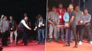 खासदार क्रीडा महोत्सव के समापन समारोह में केंद्रीय मंत्री नितिन गडकरी, देवेंद्र फड़नवीस और हार्दिक पंड्या ने जमकर खेला क्रिकेट