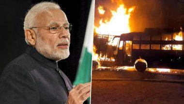 कन्नौज: ट्रक से टक्कर के बाद बस में लगी भीषण आग, जिंदा जल गए 20 से ज्यादा यात्री- हादसे पर पीएम मोदी ने जताया दुख