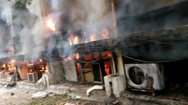 दिल्ली: सिविल लाइंस स्थित परिवहन विभाग के ऑफिस में लगी आग, दमकल की 8 गाड़ियां मौके पर