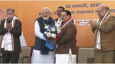 बीजेपी के नये अध्यक्ष बने जेपी नड्डा,  पीएम मोदी, अमित शाह समेत पार्टी के नेताओं ने दी शुभकामनाएं