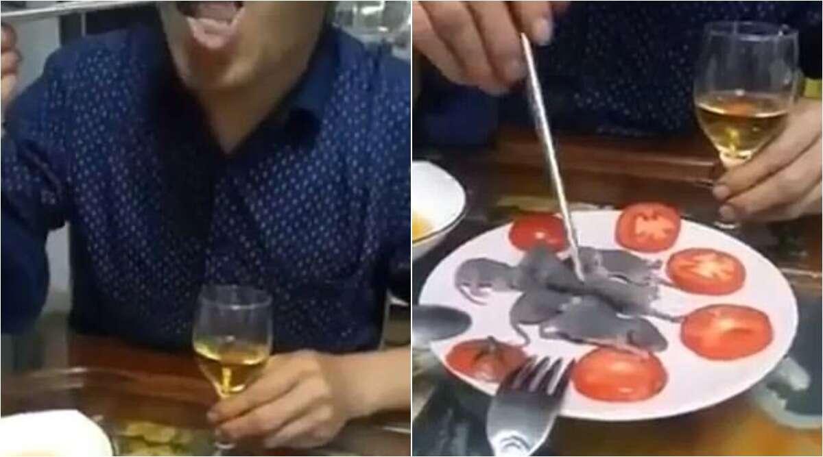 शख्स का सॉस में डूबोकर जिंदा चूहे खाने वाला क्लिप आया सामने, देखें वायरल वीडियो