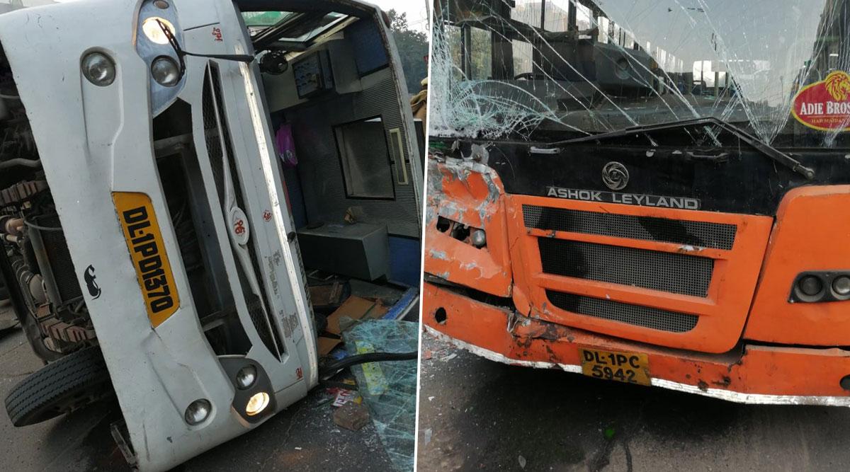 दिल्ली: नरायणा में स्कूल बस और कलस्टर बस में टक्कर, 6 छात्र घायल