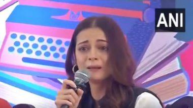 जयपुर लिटरेचर फेस्टिवल में पहुंची दिया मिर्जा हुई इमोशनल, फूट-फूटकर रोते हुए आई नजर (Video)